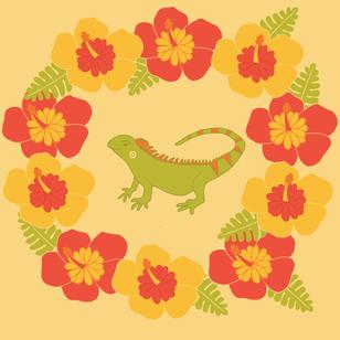 Iguana Wreath
