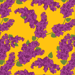 Lilacs on Yellow