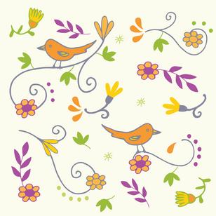 Birds and Swirls