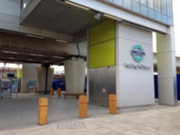 Pudding Mill Lane DLR Station Signage.jp