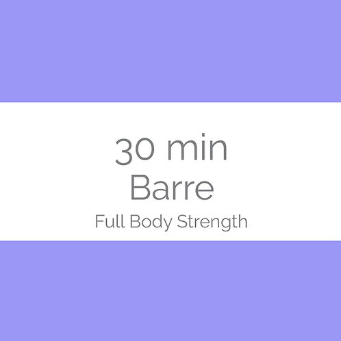 30min Barre - Full body strength