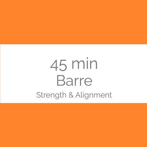 45min Barre- Strength & Alignment
