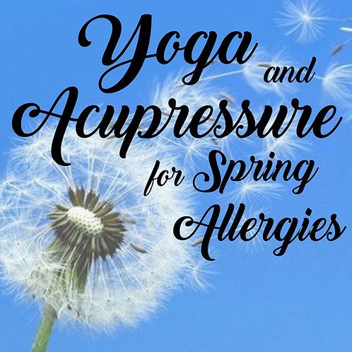 Yoga & Acupressure for Spring Allergies