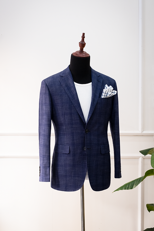 RTW Blue Windowpane Blazer