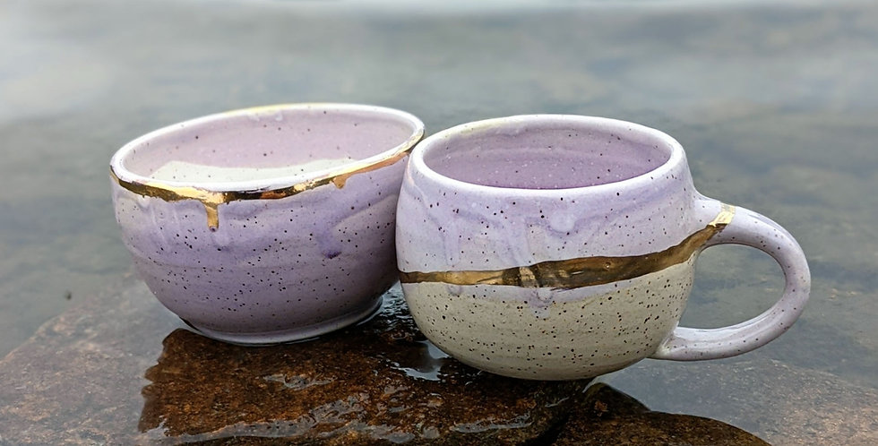 Lilac Speckled Breakfast Set