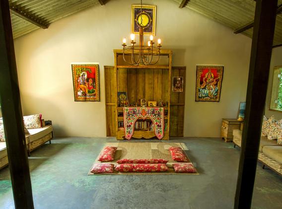 Interior do Ashram