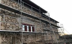 Décrépissage d'une façade
