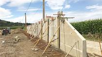 Construction d'un silo d'ensilage