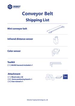 Conveyor Belt packing list