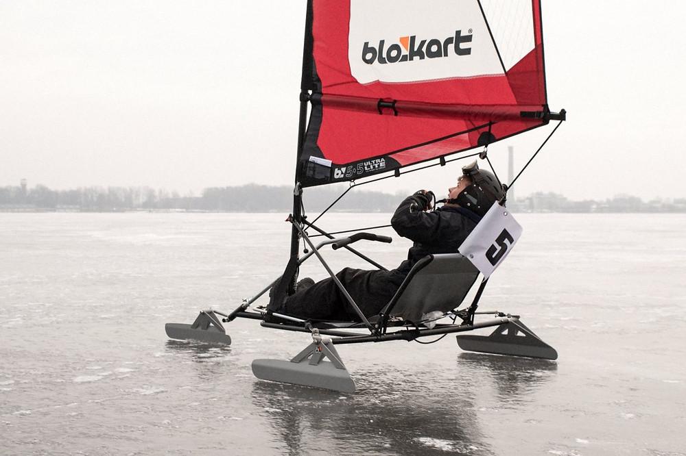 Blokart + Ice Blades = Hard water sailing........Oh yeah!