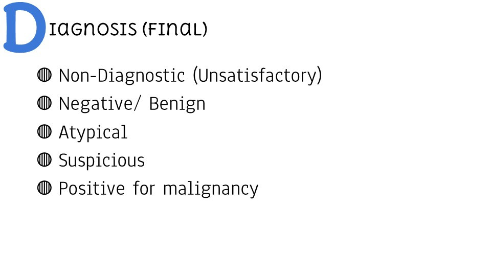 Diagnosis (Final Cytology)