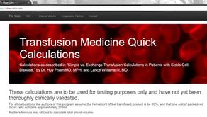 TRANSFUSION MEDICINE CALCULATOR