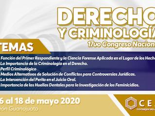 XVII Congreso Nacional de Derecho y Criminología León Gto 2020