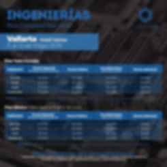 tabla de precios congreso de ingenieria.