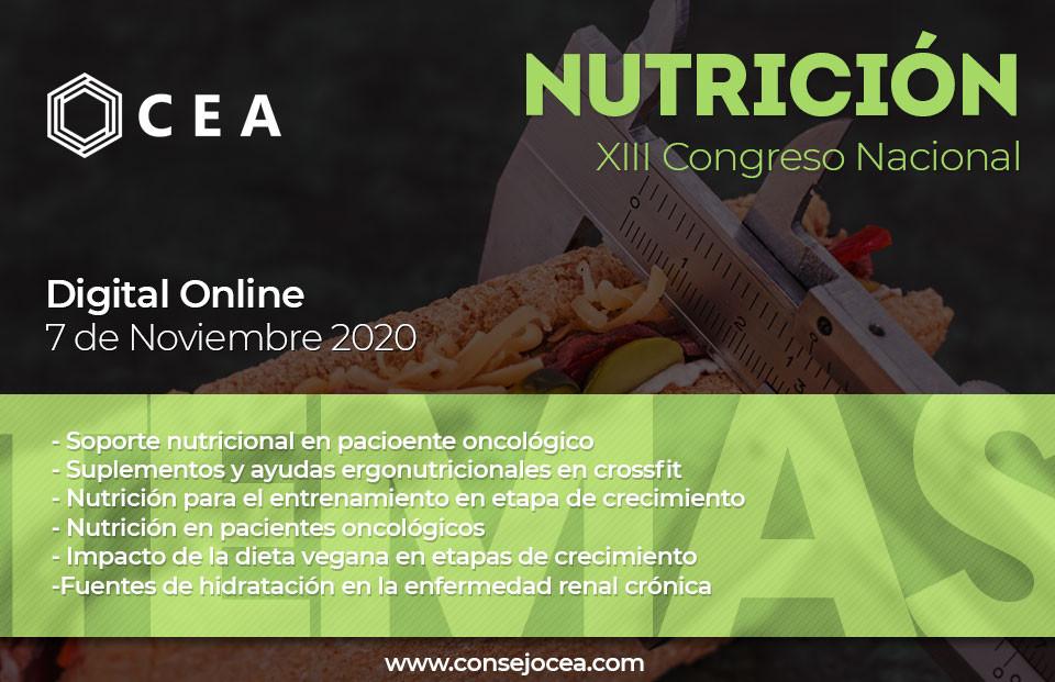 Temas del Congreso de Nutrición