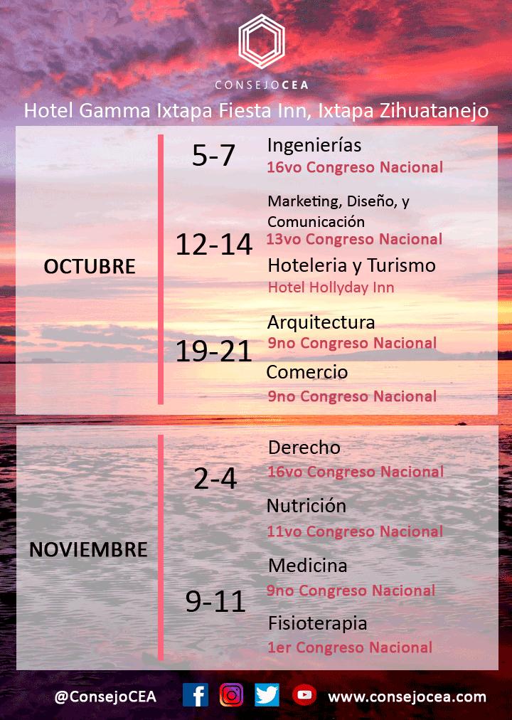 Los invitamos a los Congresos Ixtapa 2018