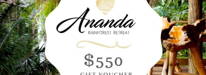 ANANDA $550 Gift Voucher