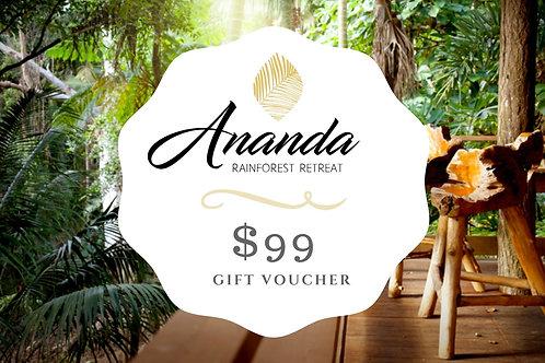ANANDA $99 Gift Voucher