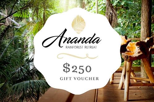 ANANDA $250 Gift Voucher