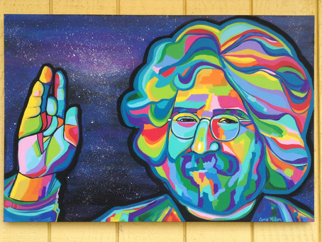 "Jerry Garcia Original Painting, ""Space Jam"""