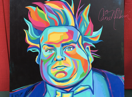 Chris Farley Painting: Holy Schnikes!