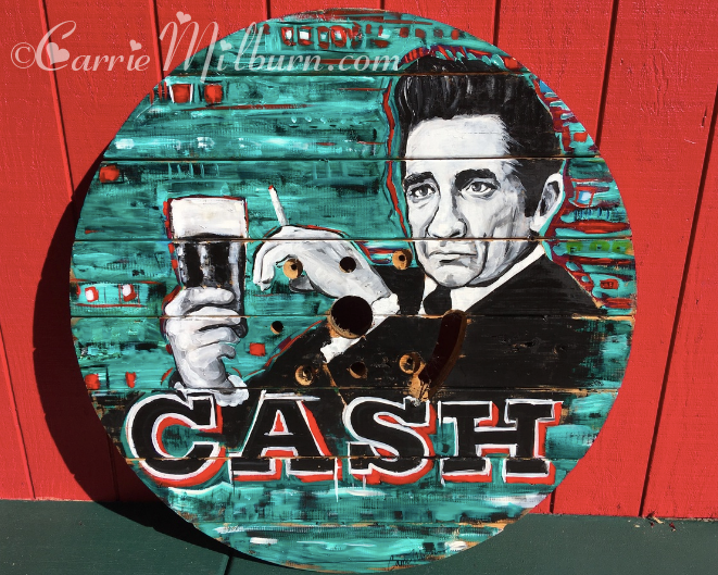 Johny Cash painting