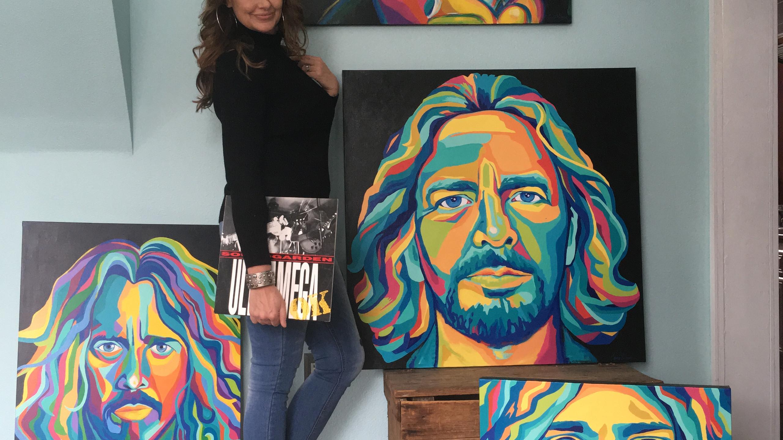 Artist Carrie Milburn's Grunge Gods series.