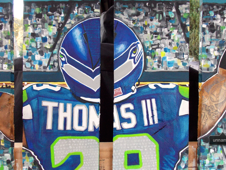 Seattle Seahawks Earl Thomas Pallet Painting