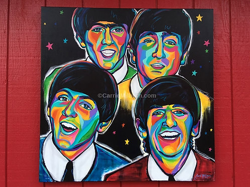 "The Beatles Original 36""x36"" Painting"
