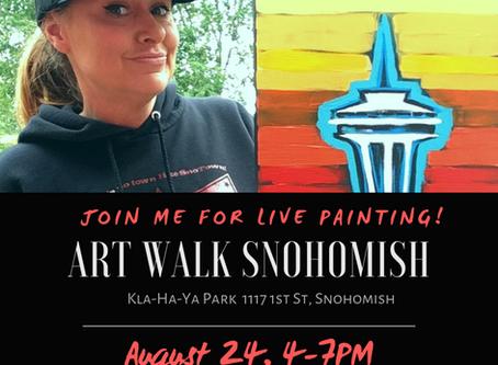 Art Walk Snohomish: Live Painting
