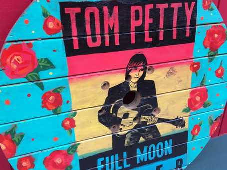 Tom Petty Spool Top Painting