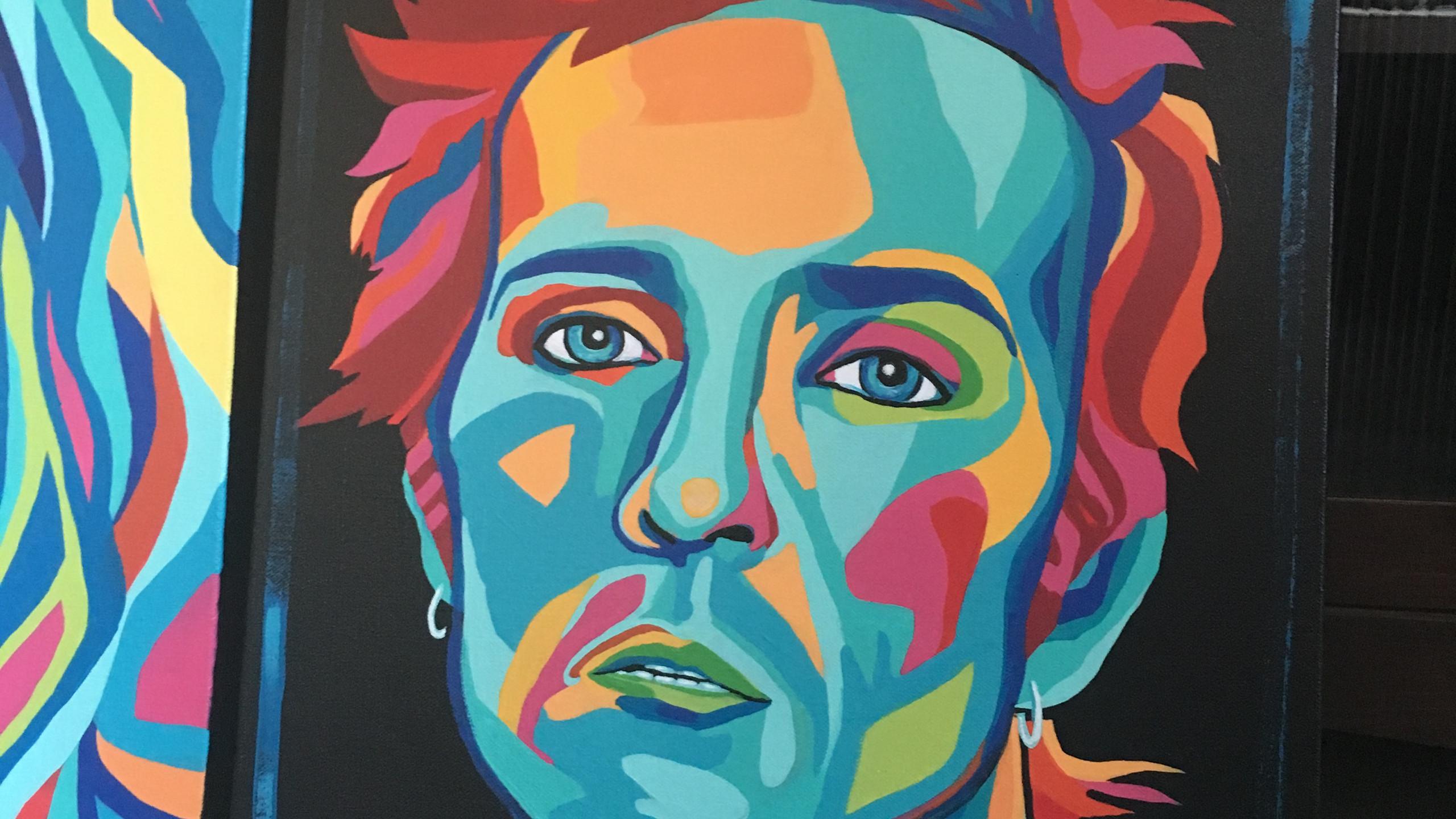 Artist Carrie Milburn's Grunge Gods series