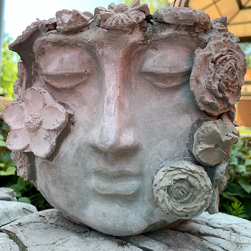 Custom Face Planter with Flowers