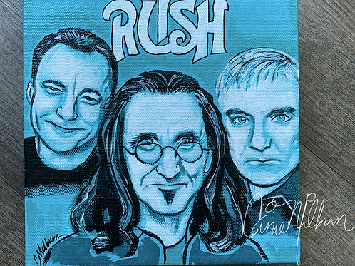 RUSH Band Painting, 8x8""