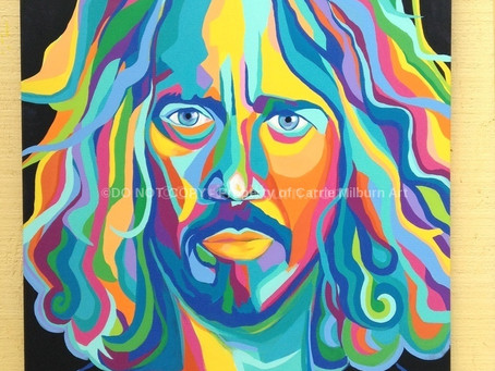 "Chris Cornell Original Painting ""King Animal""."