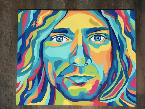 "Kurt Cobain 24x20"" Gallery Wrapped Canvas"