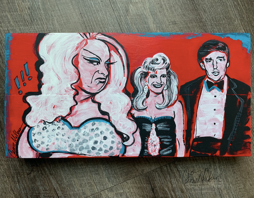 Divine and Donald Trump Painting