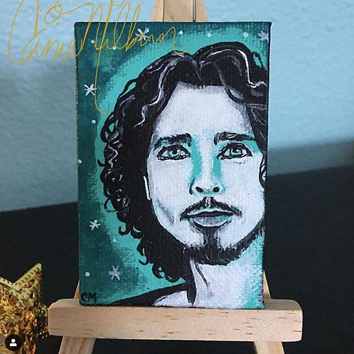 "Chris Cornell Soundgarden Mini Painting 2x3"""