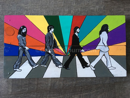 The Beatles Abbey Road Painting on Wood
