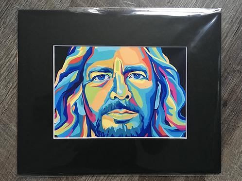 Eddie Vedder Matted Print