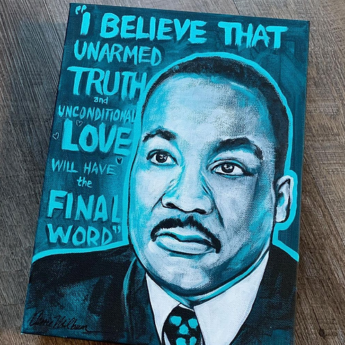 """Martin Luther King Jr. Painting 9x12"""""""