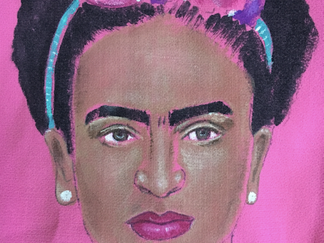 Fabric Painting on Clothes: Painting FRIDA