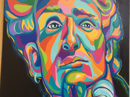 Layne Staley Original Painting, 36x36""