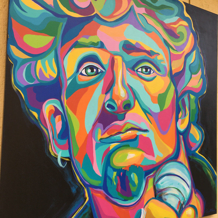 Layne Staley painting by artist Carrie Milburn of Snohomish, Washington.