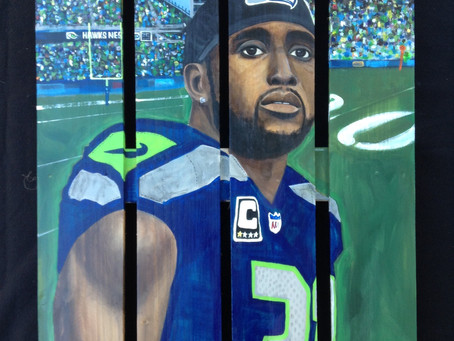 Kam Chancellor Painting, Seahawks