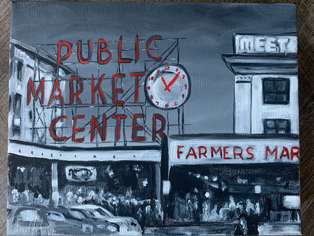 Seattle's Pike Place Market Paintings