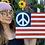 Thumbnail: Peace Flag Painting on Wood