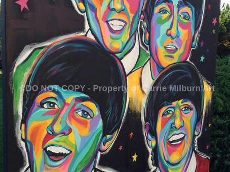 "The Beatles Original Painting, ""Yesterday""."