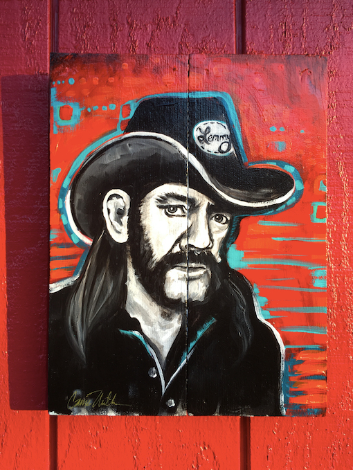 Lemmy painting on wood