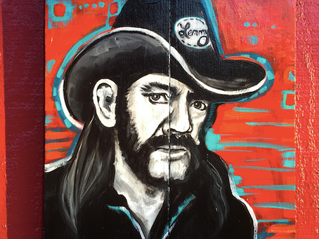 Motörhead's Lemmy, Painting on Wood
